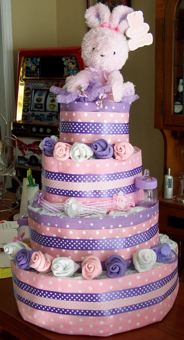 Four Layer Diaper Cake